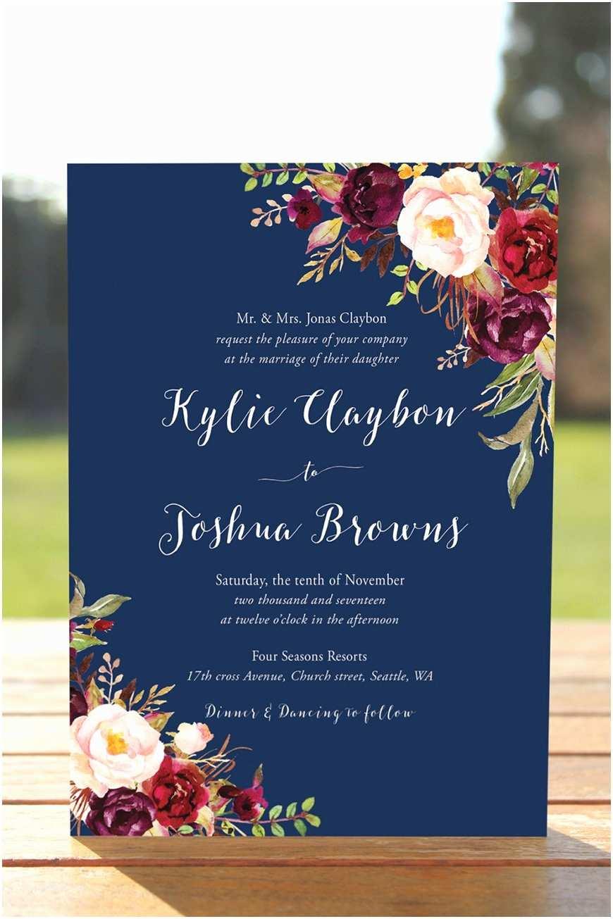 Burgundy And Navy Wedding Invitations Burgundy Wedding Theme Wedding Ideas By