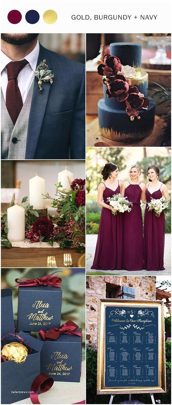 Burgundy And Navy Wedding Invitations Top 10 Wedding Color Ideas For 2018 Trends Oh Best Day