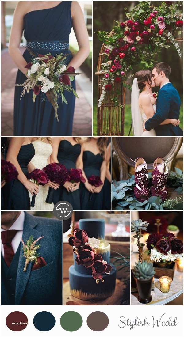 Burgundy and Navy Wedding Invitations Wedding Trends 10 Fantastic Burgundy Color Bos for