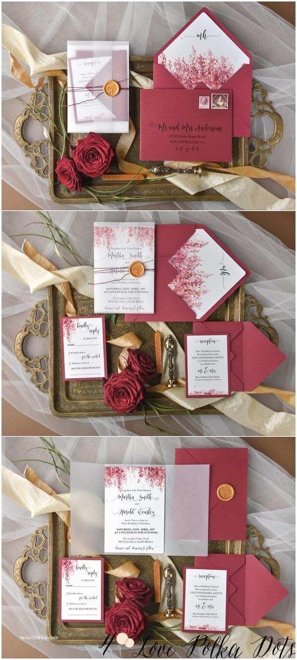 Burgundy and White Wedding Invitations 25 Best Ideas About Red Wedding Invitations On Pinterest