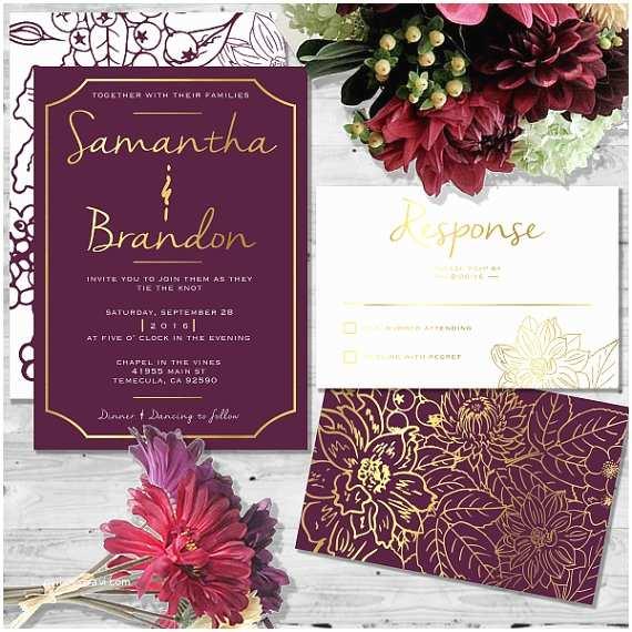 Burgundy and White Wedding Invitations Beautiful In Burgundy