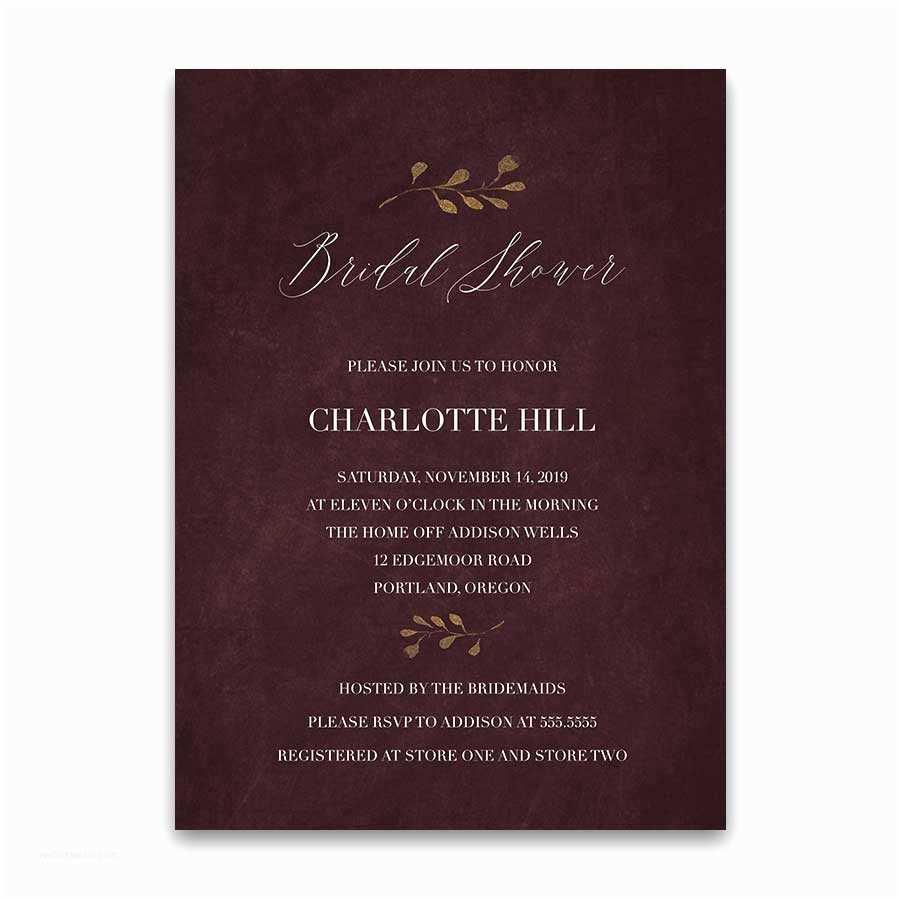 Burgundy and White Wedding Invitations Burgundy and Gold Wedding Invitation Wine Watercolor