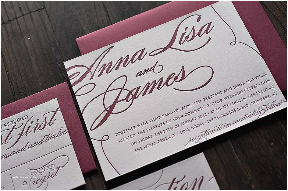 Burgundy and White Wedding Invitations Burgundy and Silver Wedding Invitations