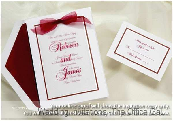 Burgundy and White Wedding Invitations Burgundy Invitations Reply Cards Wedding Invitations