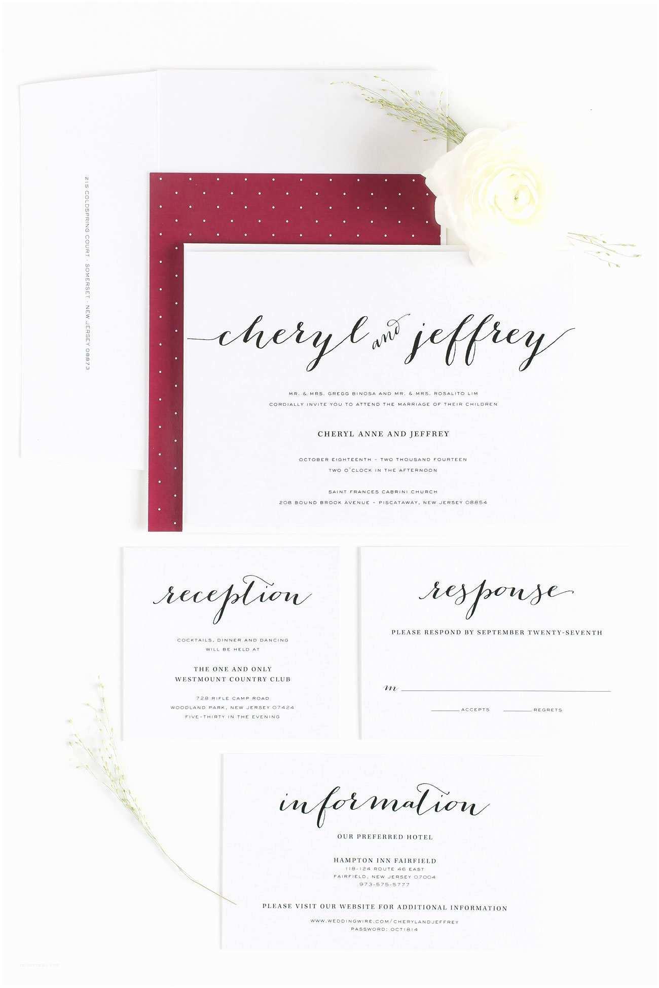 Burgundy and White Wedding Invitations Burgundy Wedding Invitations – Wedding Invitations