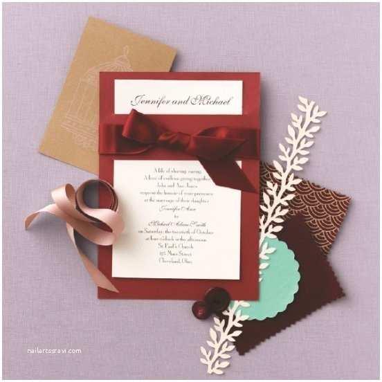 Burgundy and White Wedding Invitations Classic formal Burgundy Ivory Invitations by David S