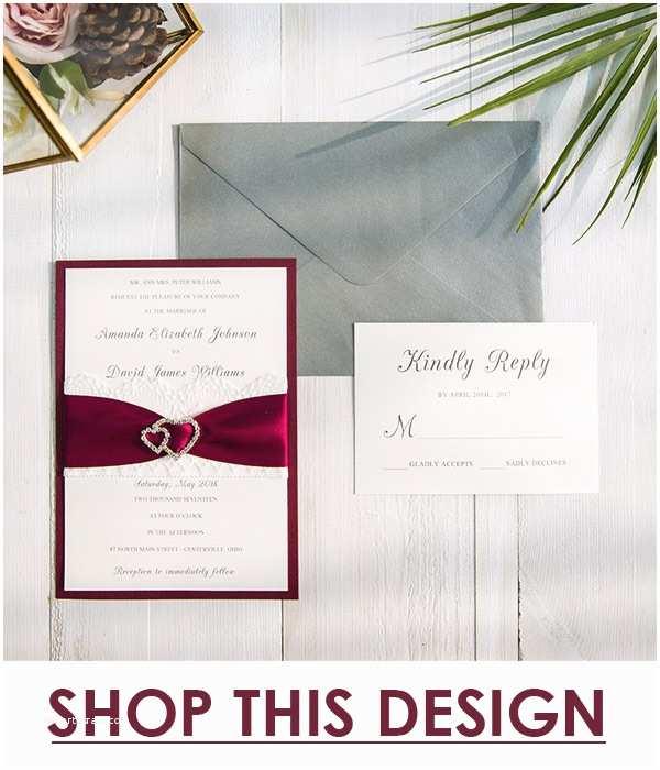 Burgundy and White Wedding Invitations Emejing Elegant Wedding Invitations with Ribbon Gallery