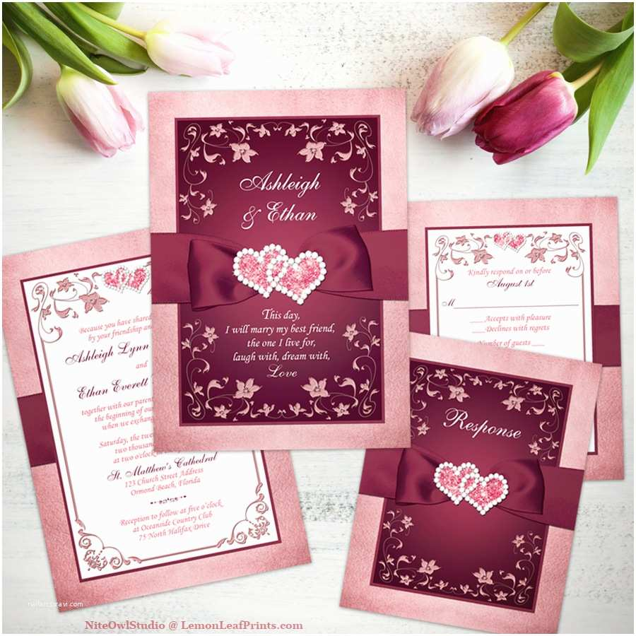 Burgundy and White Wedding Invitations Party Simplicity 2017 Wedding Invitation Trends Party