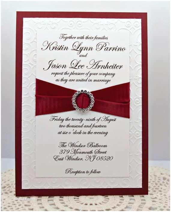 Burgundy and White Wedding Invitations Wedding Ideas Burgundy and Bling Wedding theme
