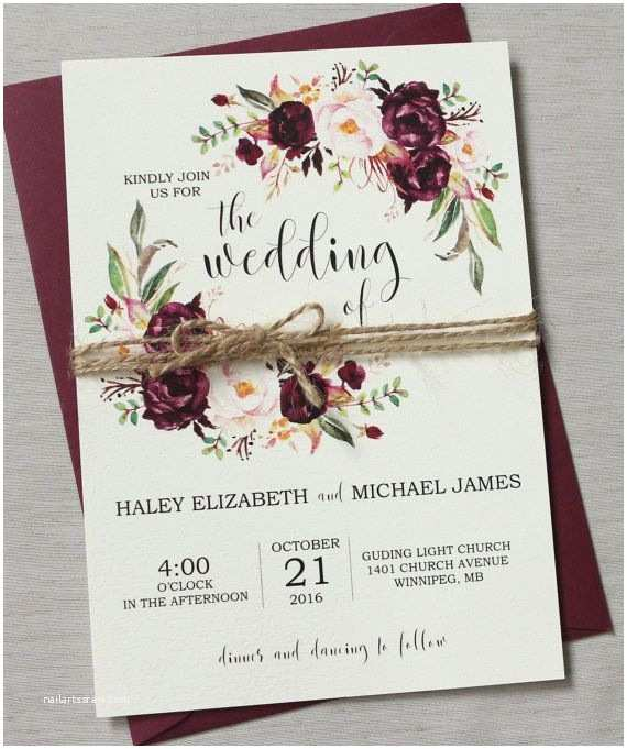 Burgundy Floral Wedding Invitations Best 25 Floral Wedding Invitations Ideas On Pinterest