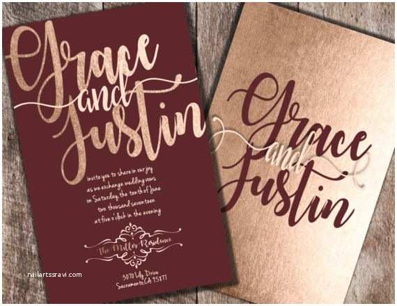 Burgundy themed Wedding Invitations Burgundy and Blush Wedding Invitations Burgundy by