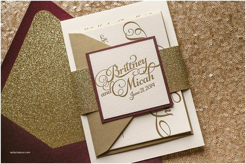 Burgundy themed Wedding Invitations Fall Wedding Invitations