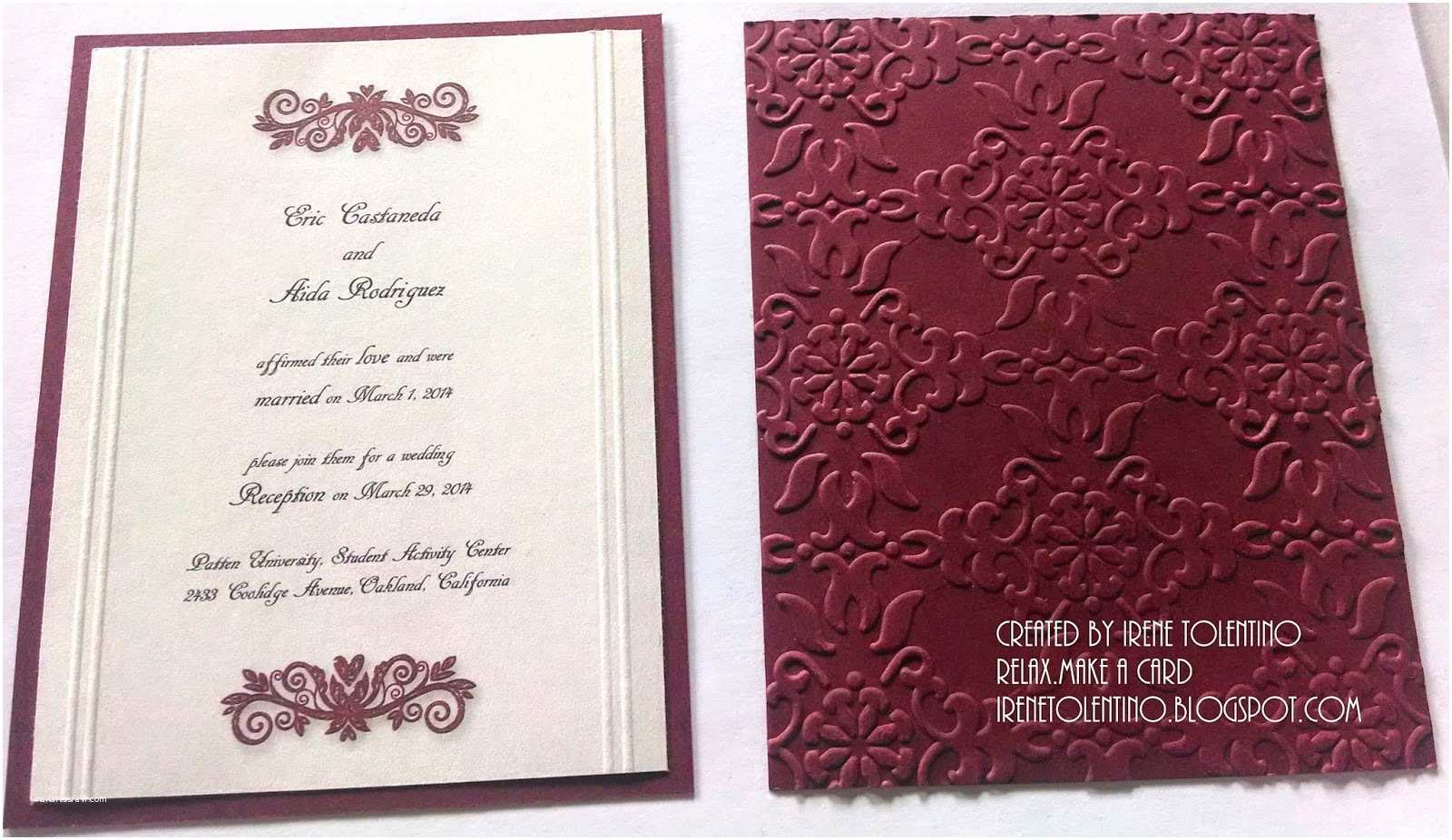 Burgundy themed Wedding Invitations Relax Make A Card Burgundy Wedding Reception Invitations