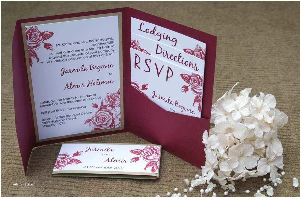 Burgundy Wedding Invitations A Classic & sophisticated I Do