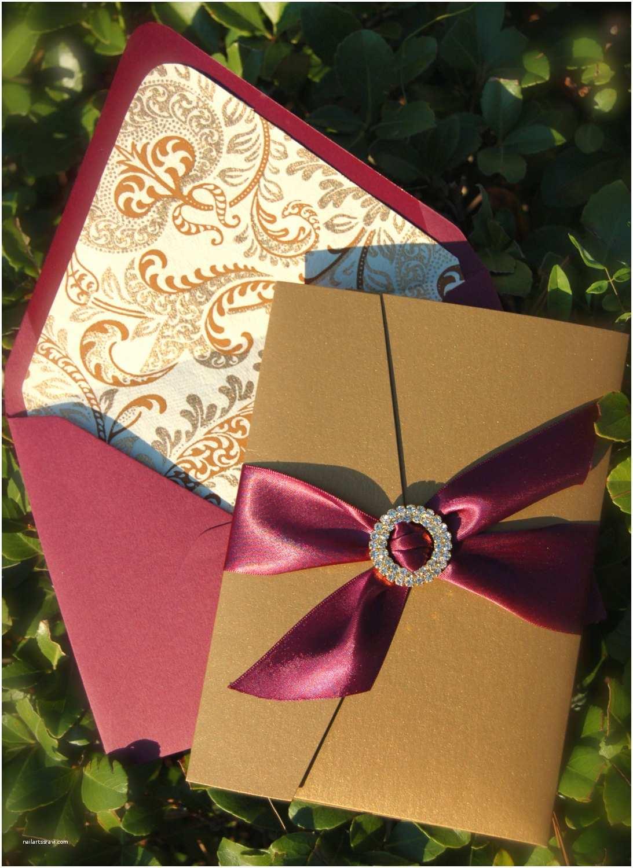 Burgundy Wedding Invitations Burgundy and Gold Wedding Invitation Letterpress Wedding