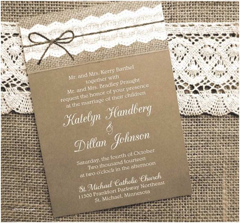 Burlap Wedding Invitations Burlap and Lace Wedding Invitation – orderecigsjuicefo