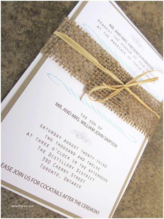 Burlap Wedding Invitations Items Similar to Modern Rustic Collection Rustic Burlap