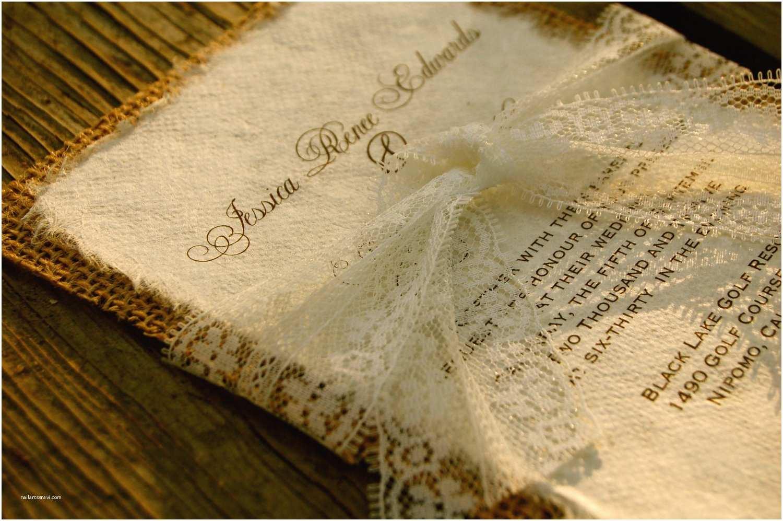 Burlap Wedding Invitations Lace Wedding Invitations
