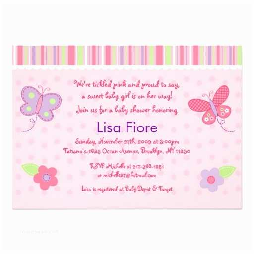 Butterfly Baby Shower Invitations Baby Girl butterfly Custom Baby Shower Invitations