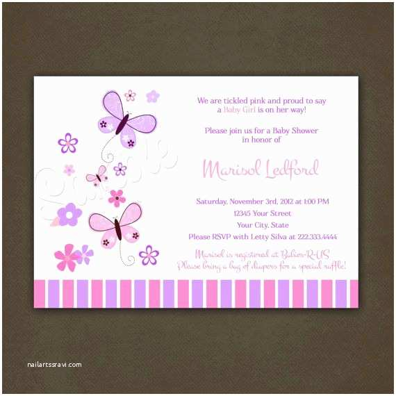 Butterfly Baby Shower Invitations butterflies Baby Shower Invitations Printable File for