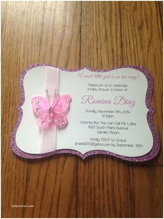 Butterfly Baby Shower Invitations butterfly Garden themed Baby Shower by Memorableimprints