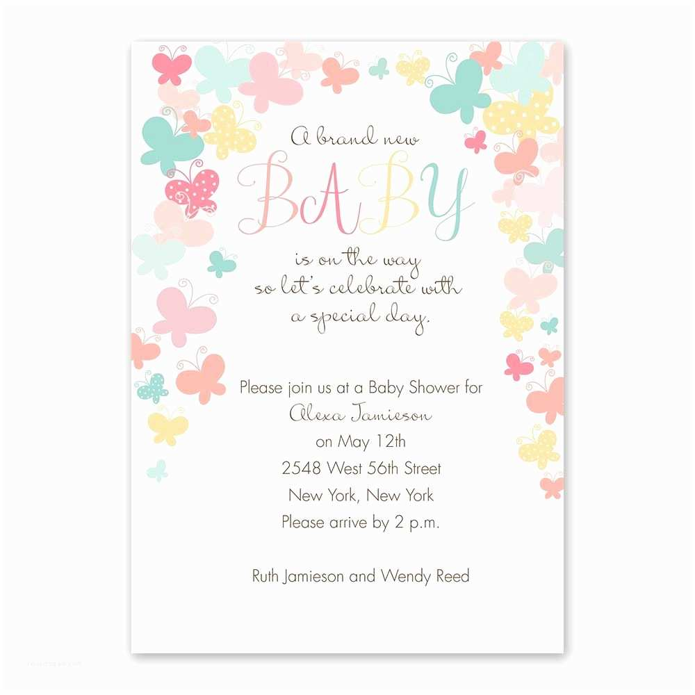 stylish butterfly baby shower invitations designs