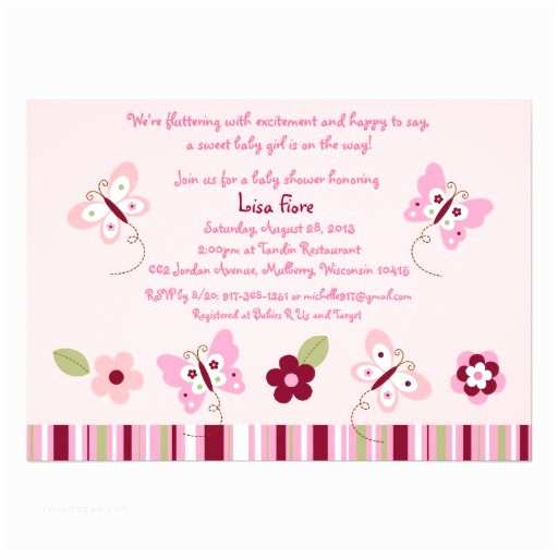 Butterfly Baby Shower Invitations Taffy butterfly Baby Shower Invitations