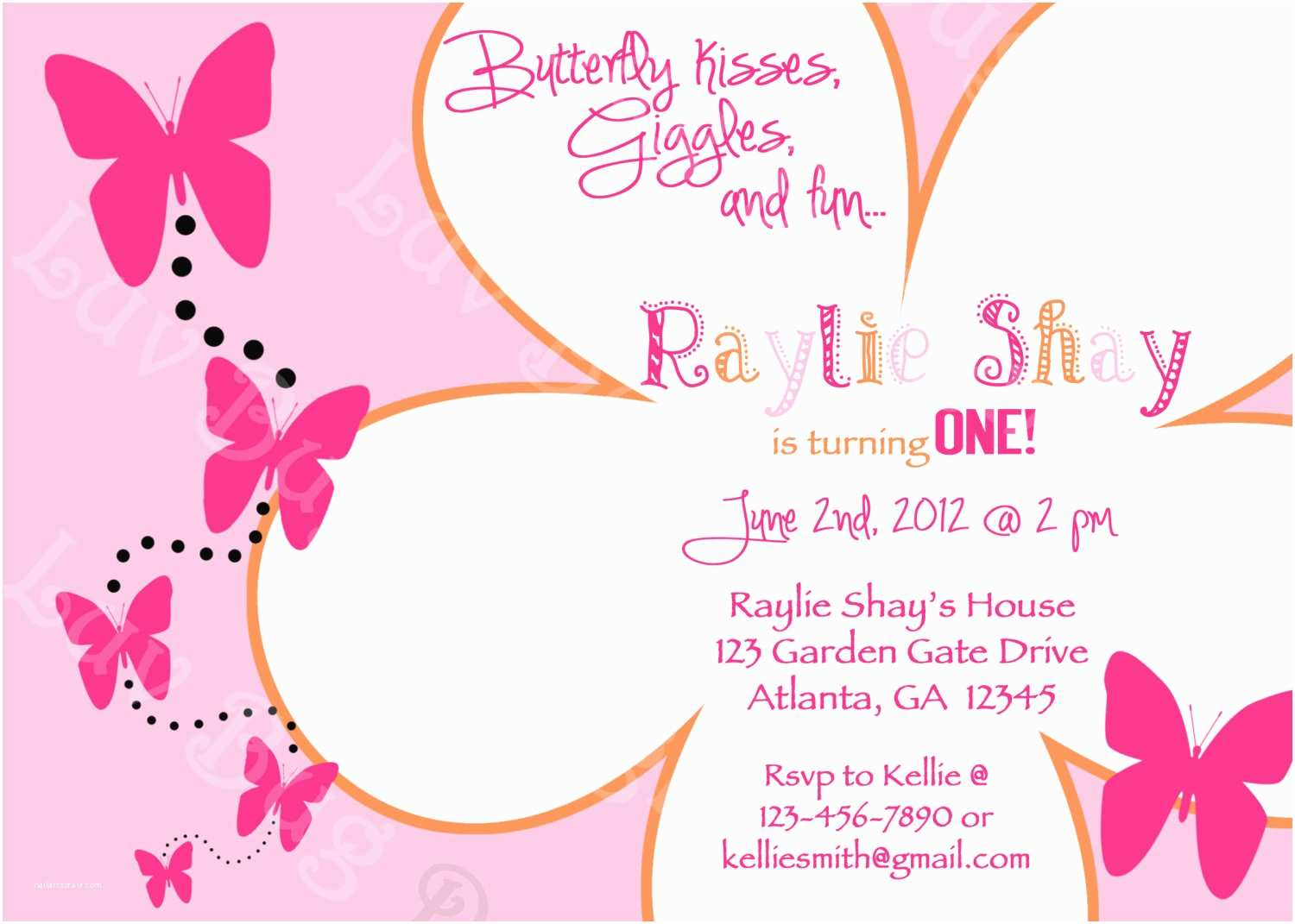 post free printable butterfly birthday invitations templates