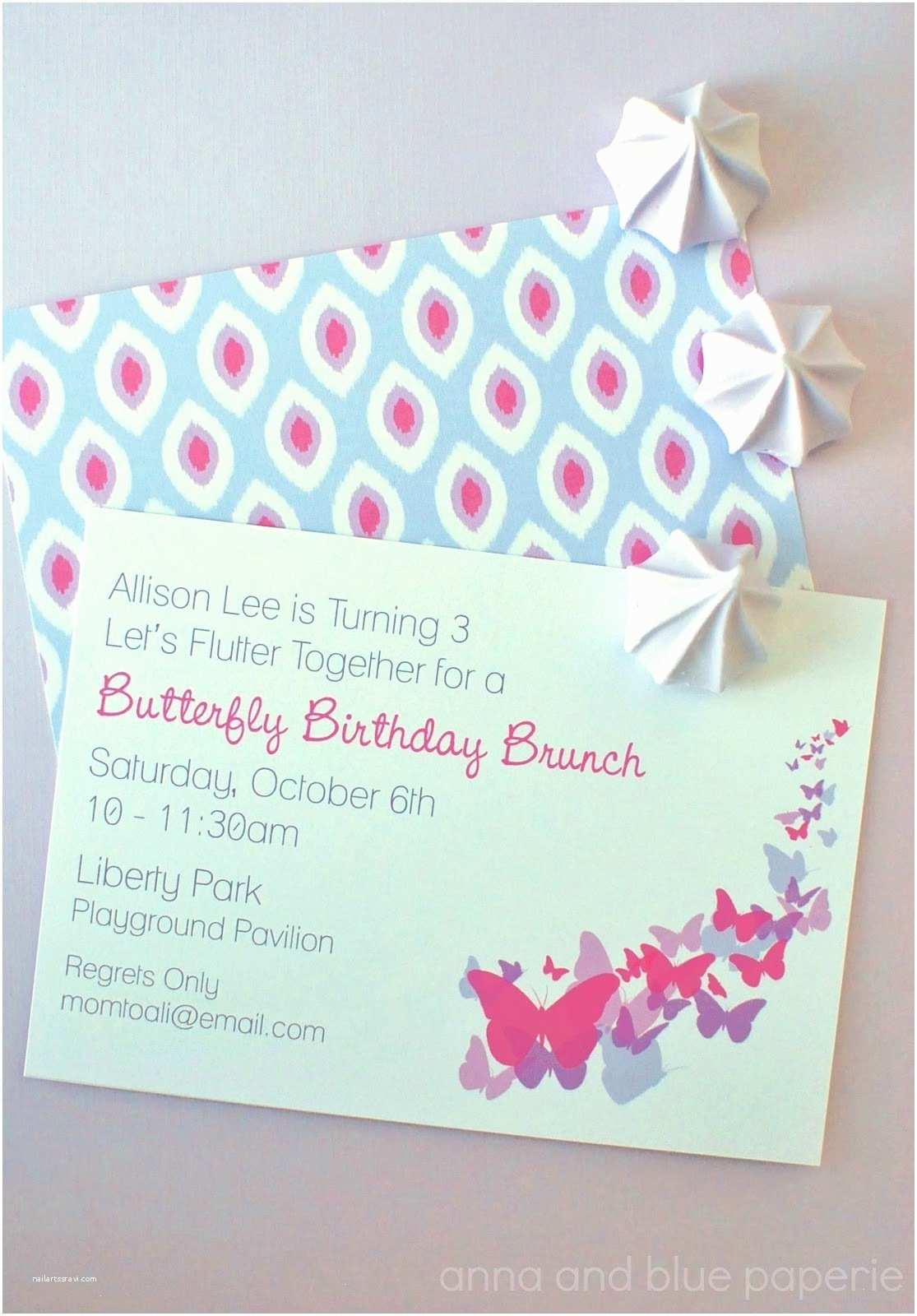 Butterfly Birthday Invitations Anna and Blue Paperie New to the Shop butterfly Party