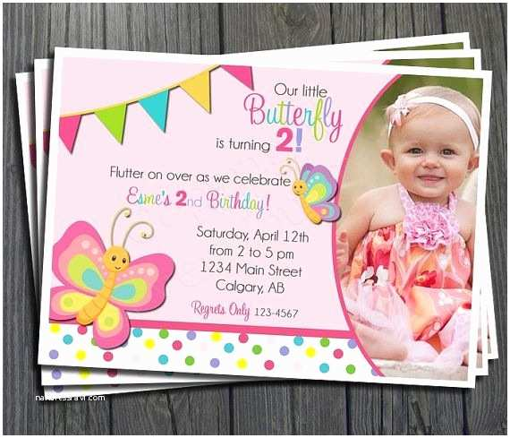 Butterfly Birthday Invitations butterfly Birthday Invitation Girls Birthday Invitation