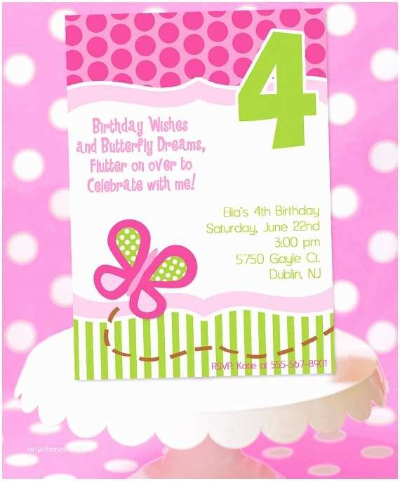 Butterfly Birthday Invitations butterfly Birthday Party Invitation butterfly Party