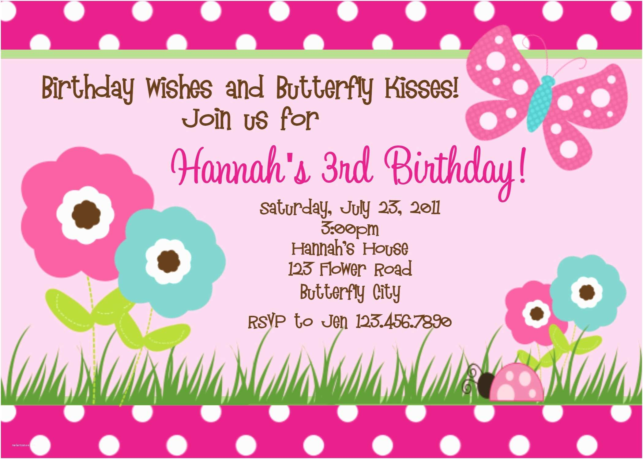 Butterfly Birthday Invitations Printable Birthday Invitations butterfly Party Little Girl