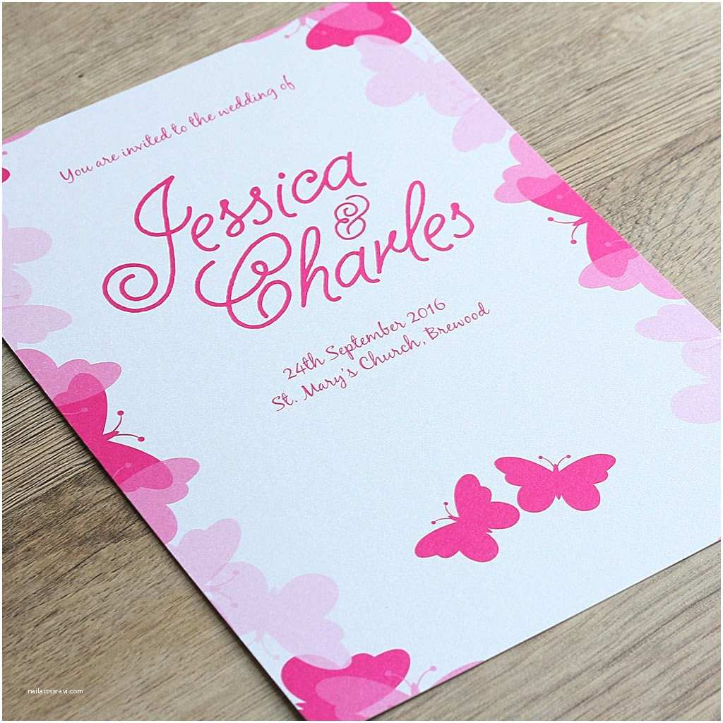 Butterfly Wedding Invitations butterfly Wedding Invitation the Pretty In Print Pany