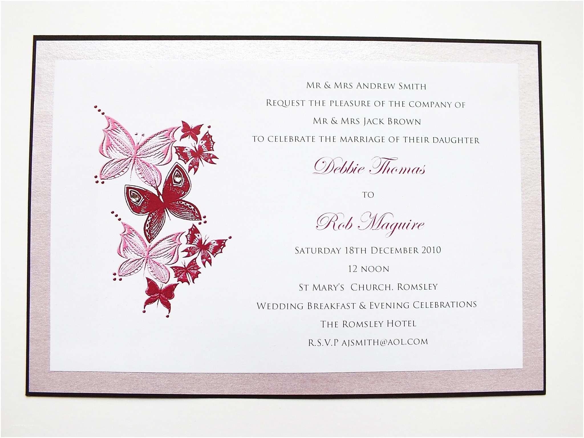 Butterfly Wedding Invitations butterfly Wedding Invitations