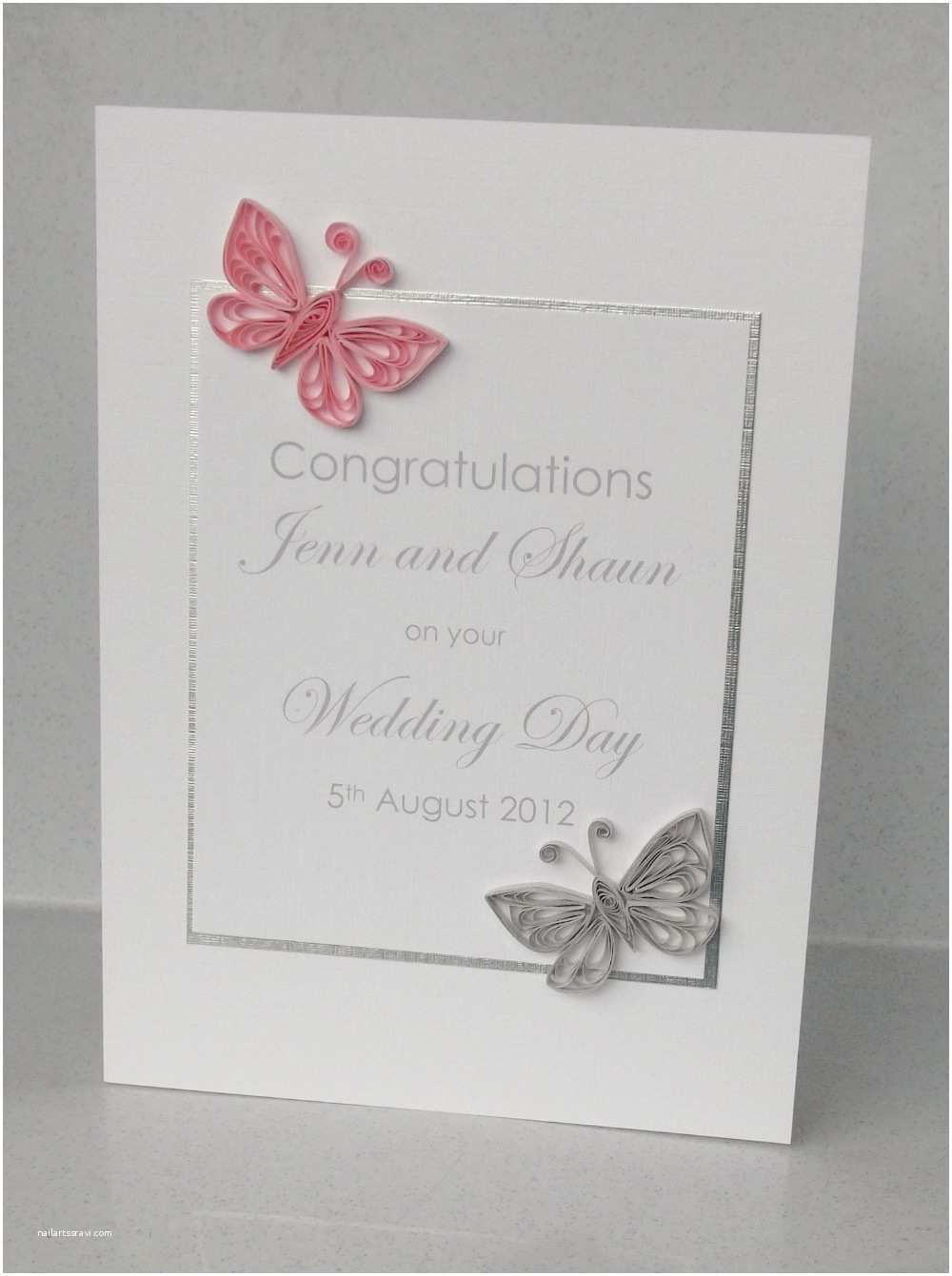 Butterfly Wedding Invitations Paper Daisy Cards Quilled butterfly Wedding Invitation