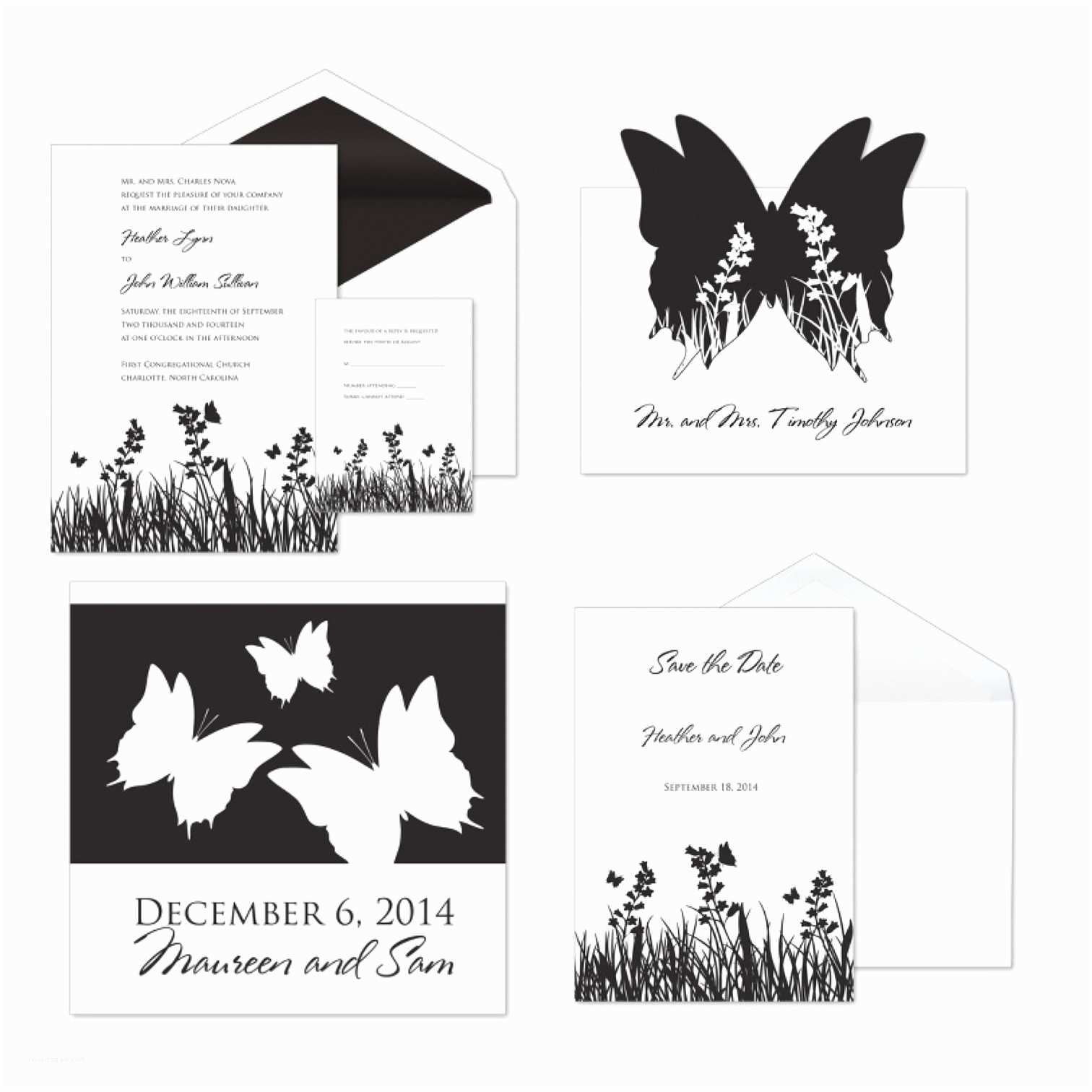 Butterfly Wedding Invitations Templates butterfly Wedding Invitation Template
