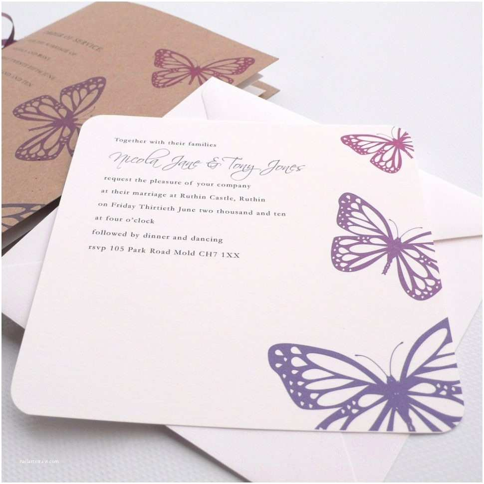 Butterfly Wedding Invitations Templates butterfly Wedding Invitation Template Various Invitation