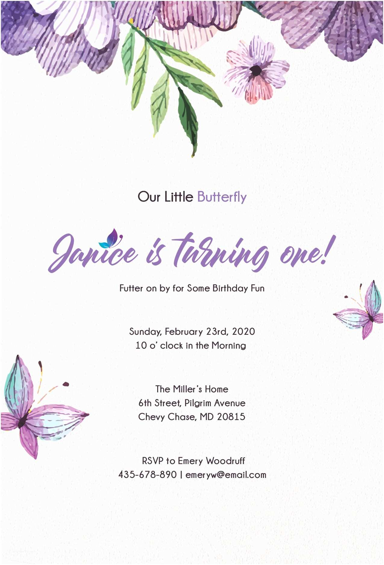Butterfly Wedding Invitations Templates Free butterfly Invitation Template In Psd Ms Word