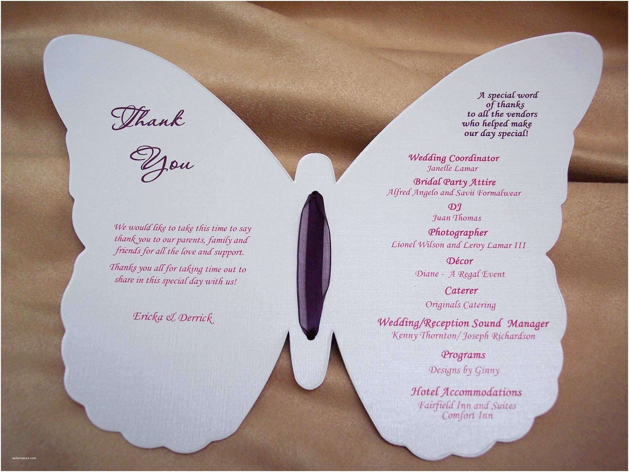Butterfly Wedding Invitations Templates Wedding Program Templates Free Ideas — C Bertha Fashion