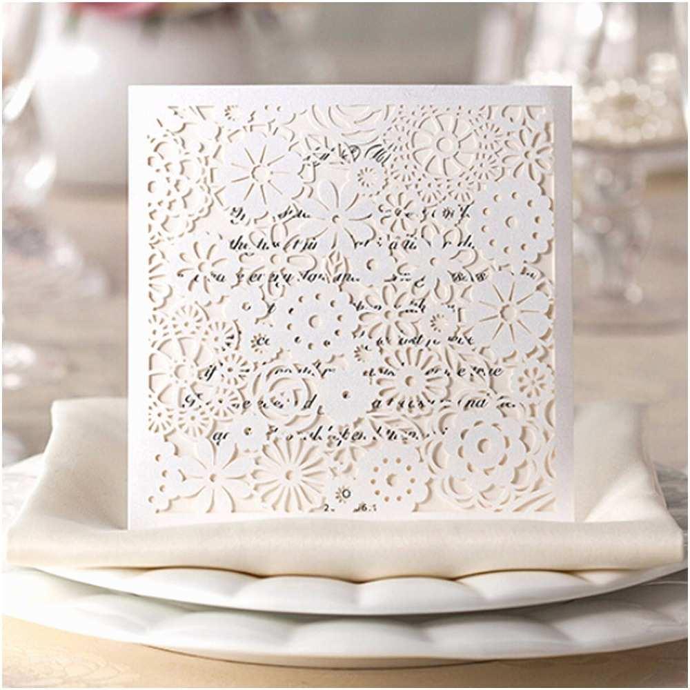 Buy Wedding Invitation Kits Aliexpress Buy Square Wedding Invitations Kits Lace Hollow Flower Party Invites Engagement