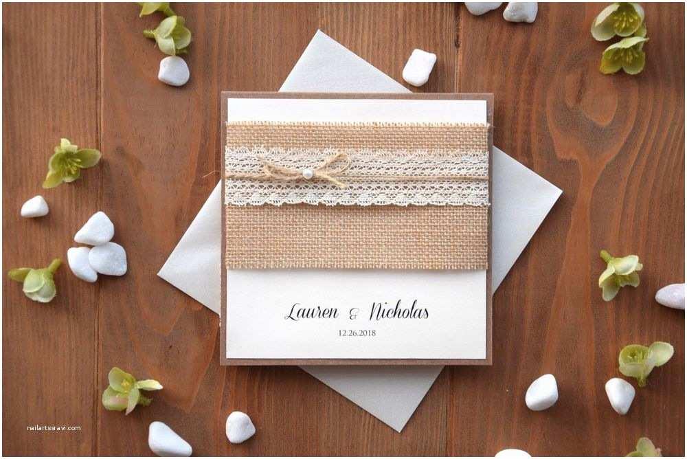 Buy Wedding Invitation Kits Custom Invitations Rustic Lace Wedding Invitation Kit Pocket Invitation Sample