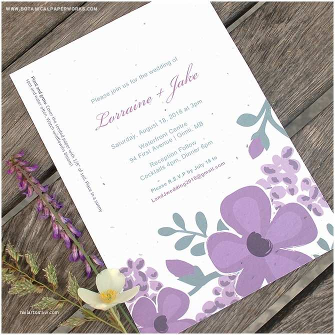 Buy Wedding Invitation Kits New Romantic Floral Designs for Our Seed Paper Printable Wedding Invitations Kit