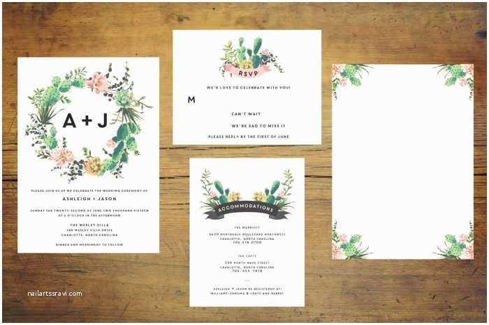 Cactus Wedding Invitations 12 Cactus themed Wedding Ideas