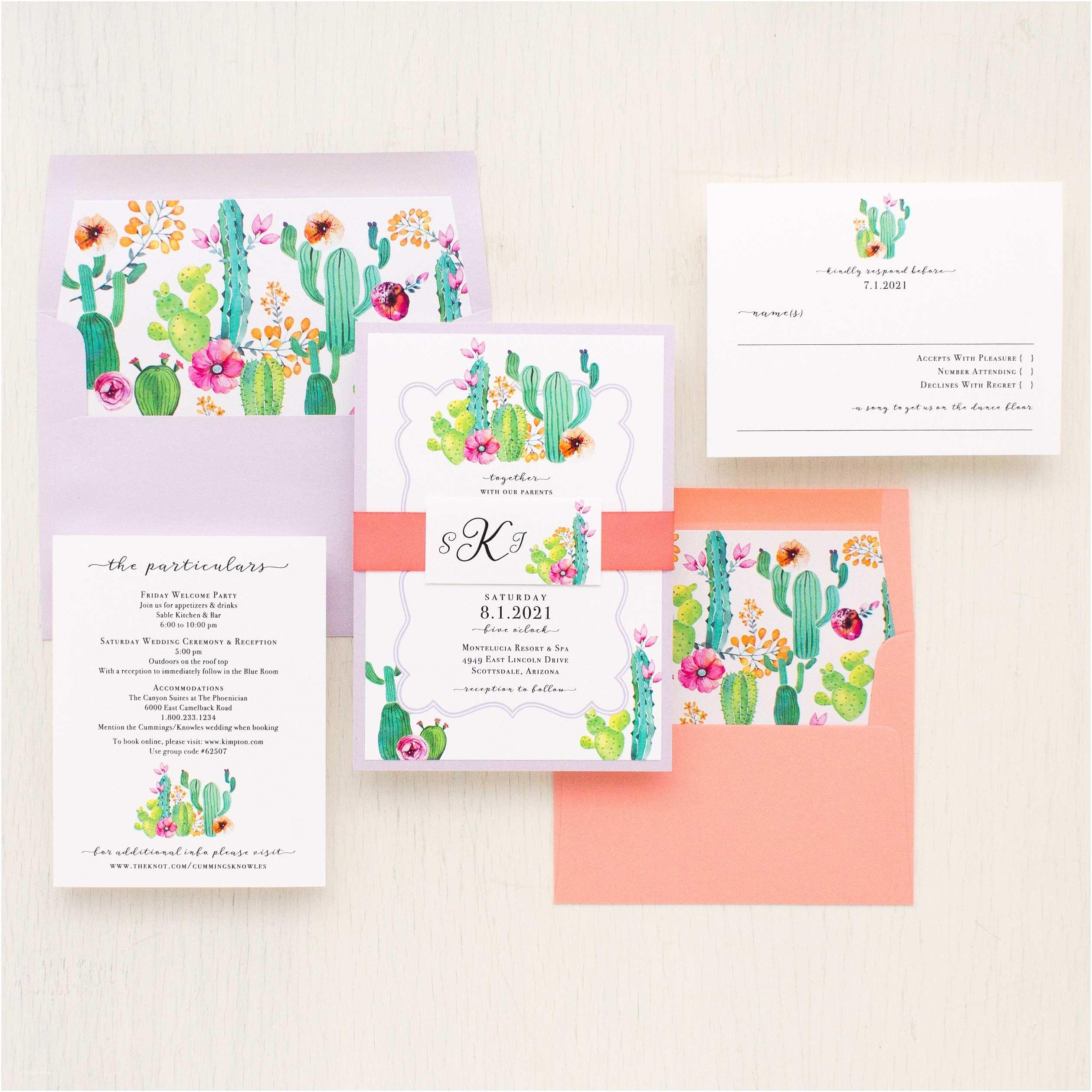 Cactus Wedding Invitations Cactus Love Wedding Invitations
