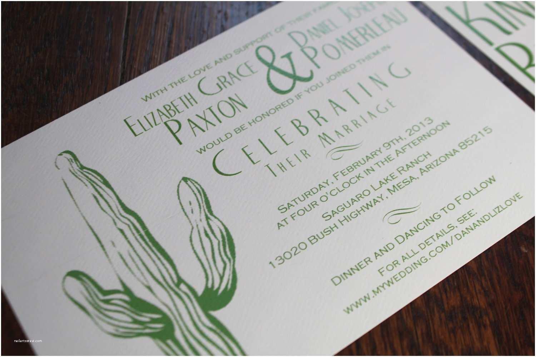 Cactus Wedding Invitations Desert Wedding Invitation Cactus Tumbleweed Green
