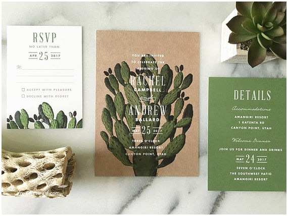 Cactus Wedding Invitations Everything You Need for A Cool Cactus Wedding Mywedding