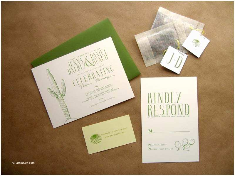 Cactus Wedding Invitations Jenna Daniel S Desert Cactus Wedding Invitations
