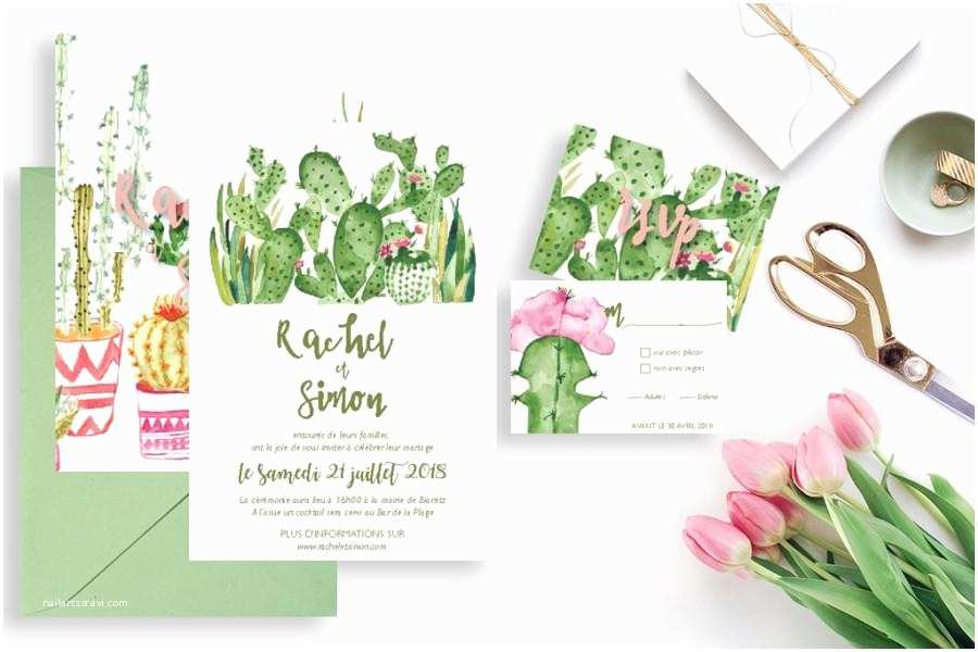 Cactus Wedding Invitations Printable Wedding Invitation with Rsvp Card Cactus Wedding