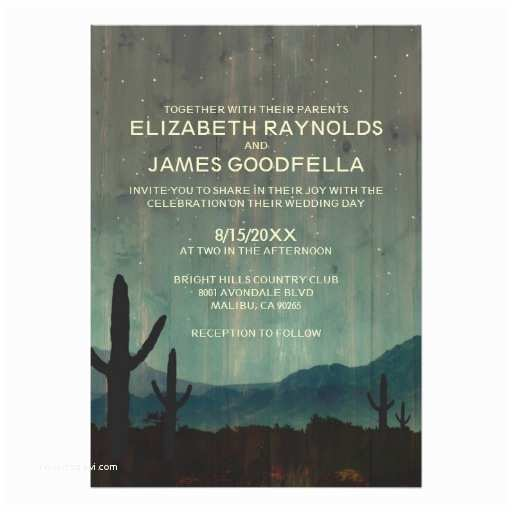 Cactus Wedding Invitations Rustic Cactus Wedding Invitations