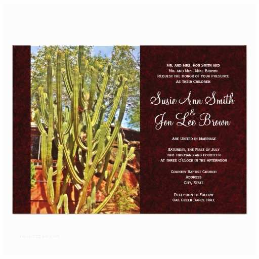 Cactus Wedding Invitations southwestern Desert Cactus Wedding Invitations